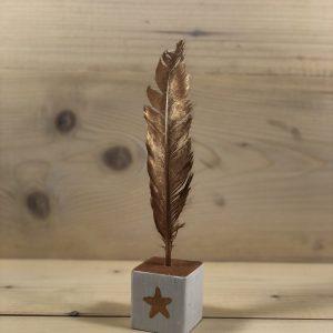 houten kubusblokje met veer