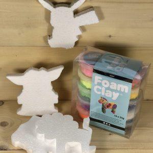 foam clay knutselpakket jongens