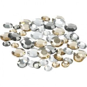 strassstenen rond goud zilver