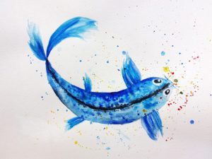 tutoriel diy poisson aquarelle