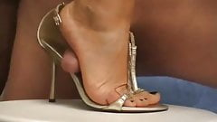 Cuming On A Milf Sandals