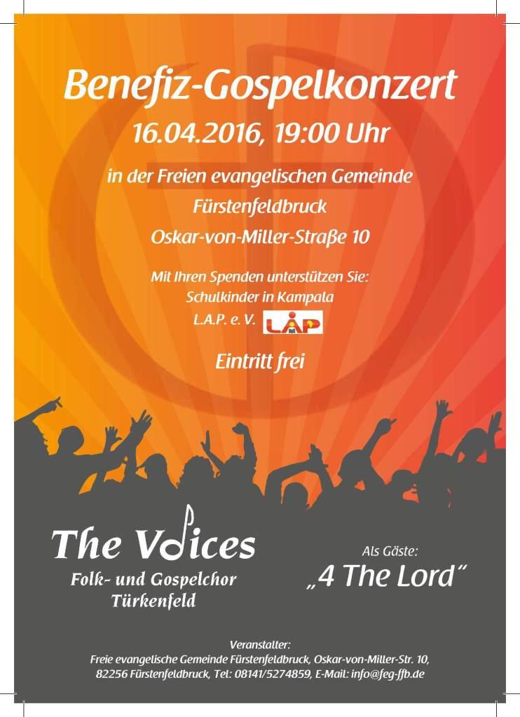 Flyer zum Gospel-Konzert am 16.04.2016