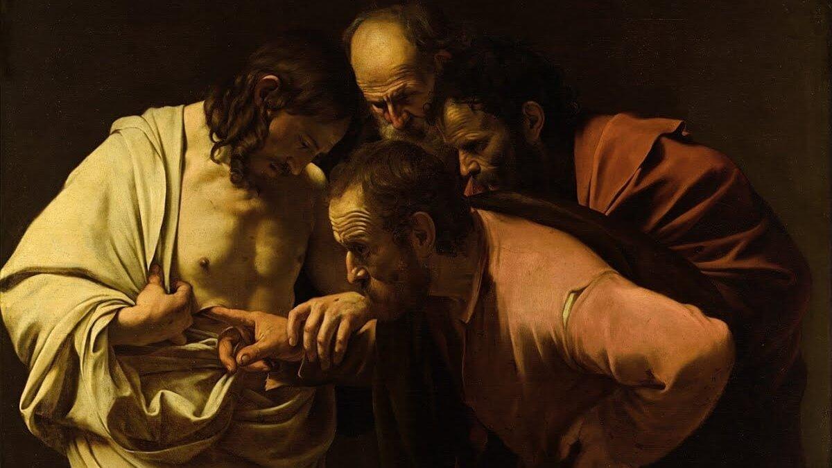 Caravaggio - Der ungläubige Thomas 1602
