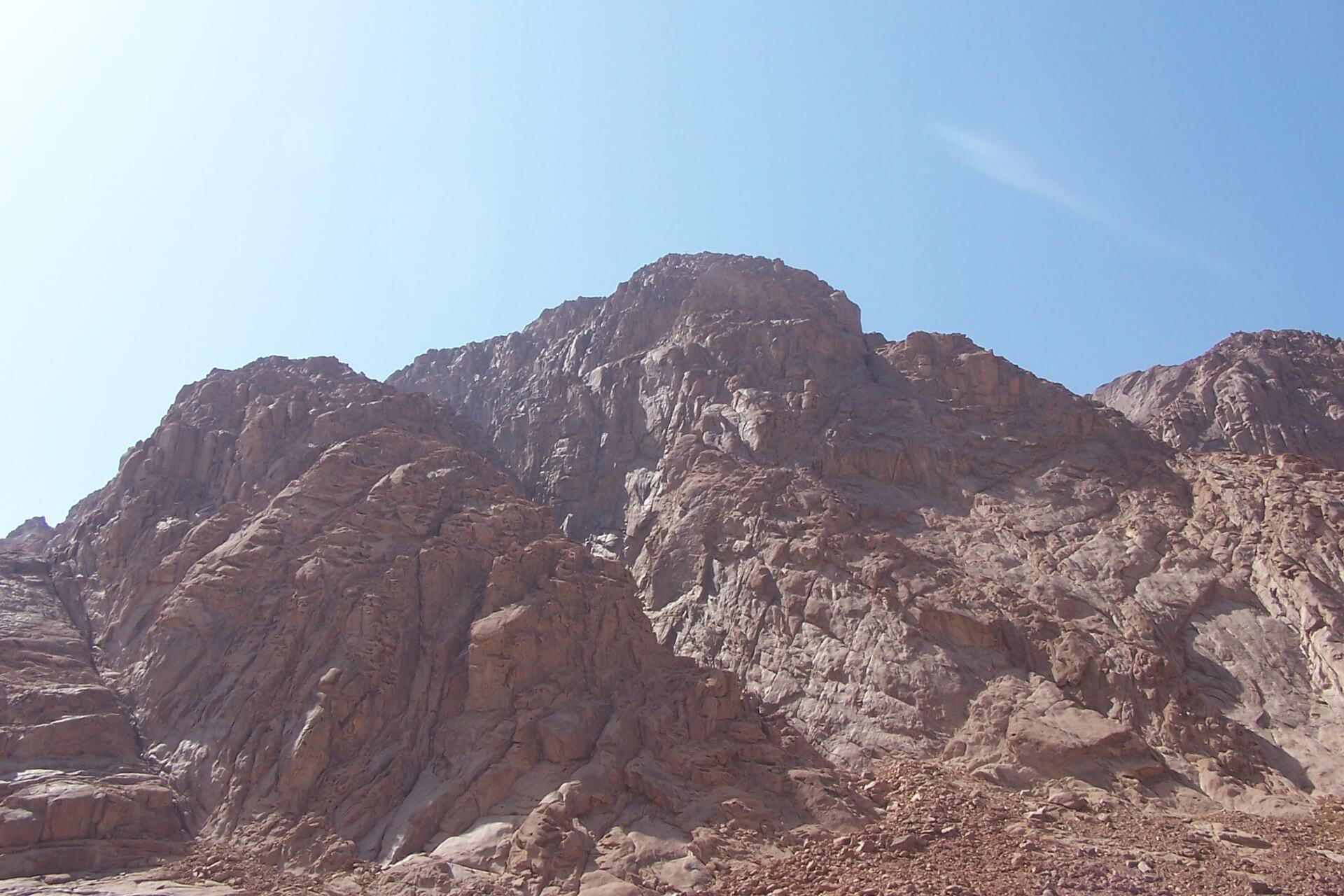 Der Berg Sinai. Hier wurde Gottes Name verkündet