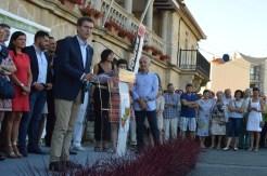 Un momento de la inauguración en la Plaza del Calvario