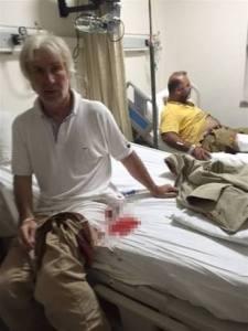 Yaralı Karslıoğlu hastanede