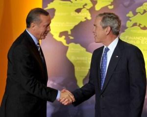 CB (o sıralar BB) Erdoğan, ABD B Bush...