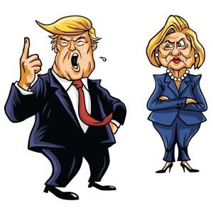 Donald Bey ve Hillary Hanım...