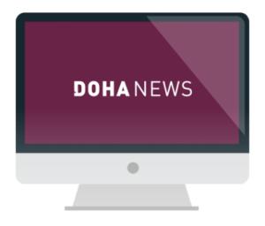 Doha News sitesi..
