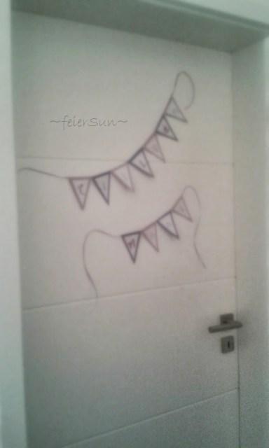 Wimpelkette Basteln Großes-Mädchen-Zimmer