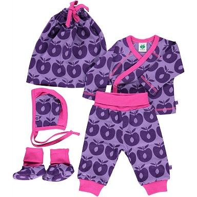 Småfolk Newborn-Set, purple Apple, Smafolk_Gr.44 Adventsaktion2014