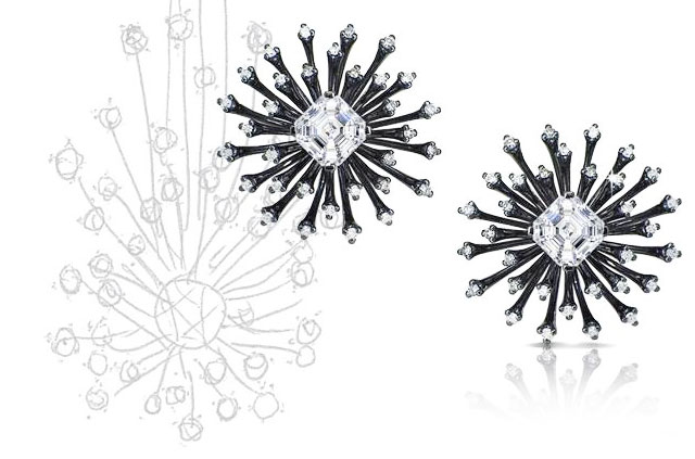Fei Liu Starburst Earrings