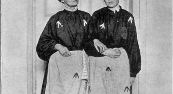 #anonymouswasawoman: #HERstory: The Pankhursts in prison dress