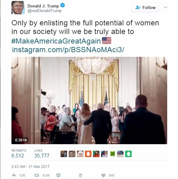 """#picturethis: women are not buying what""""The Donald"""" is selling (BBC)."""