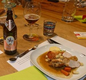Coq au Bock: Eine neue Kreation, extra für den Bierkochkurs.