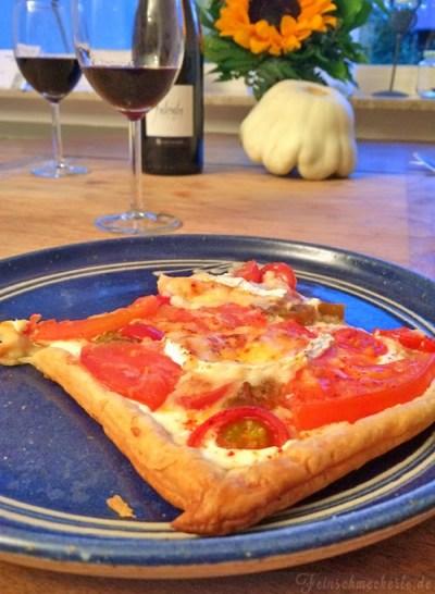 Blitz Quiche mit Tomaten & Ziegenkäse