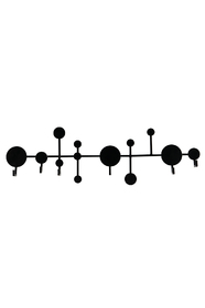 Juno atom black iron coat hook - Eclect Design