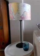 This is a basic Ikea lamp base with a vintage map shade from Notonthehighstreet.com