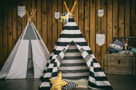 Teepee white-black stripes by Elen Living on DaWanda.com