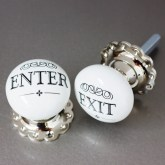 Graham & Green large ceramic enter/exit knobs
