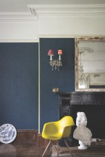 Farrow & Ball Amime BP 4405 wallpaper with Wimborne White® No.239 and Yellow Ground™ No.218