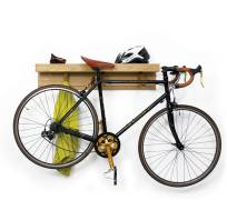 Shelfie wooden shelf and bike rack, £235.00 by Griffin and Sinclair from Notonthehighstreet.com