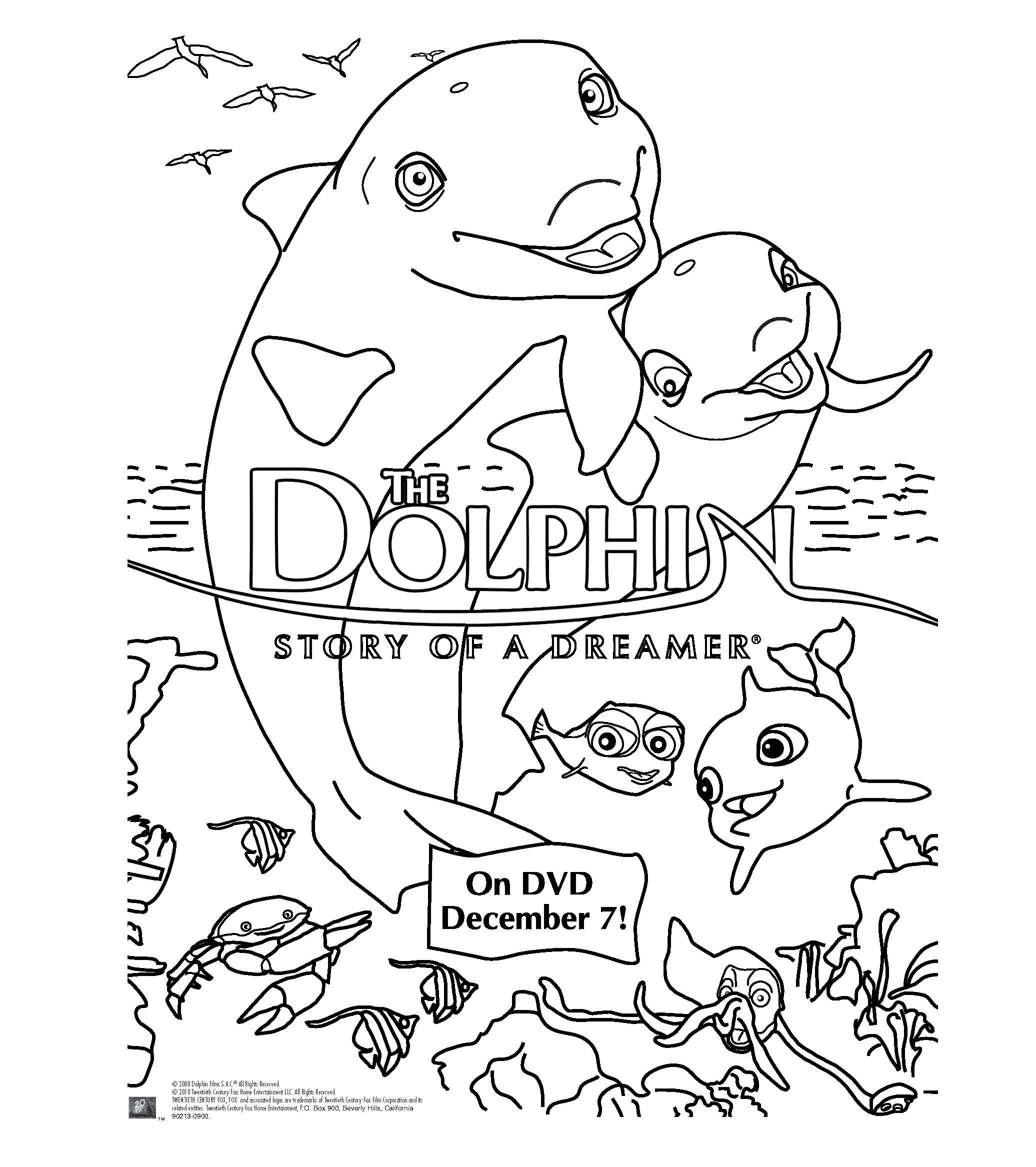 dolphin tale printable coloring pages - photo#29