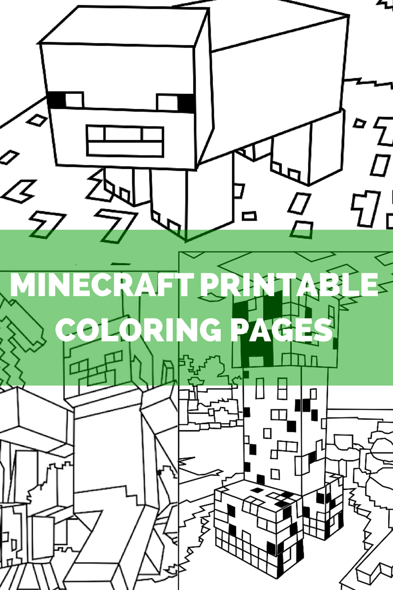 Peaceful image with regard to free printable minecraft coloring pages