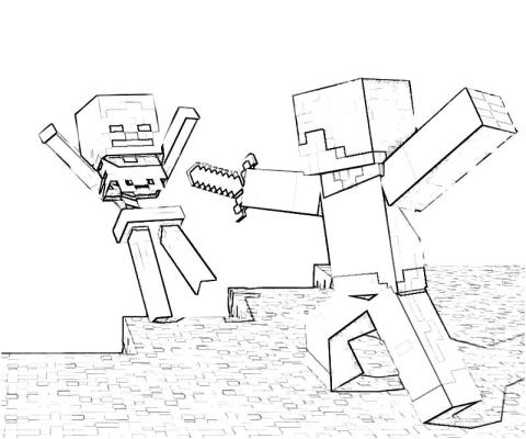 minecraft-fight-coloring-page