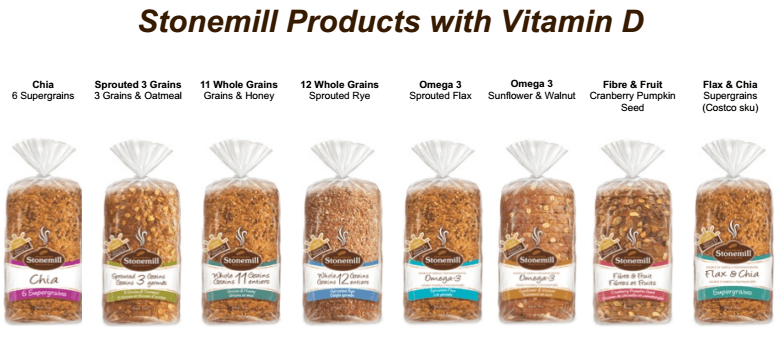 stonemill products with vitamin d