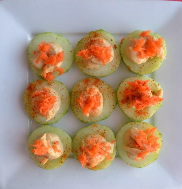 Hummus Cucumber Bites