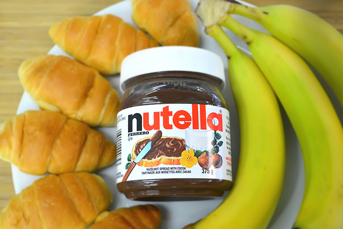 Nutella cresent rolls with banana