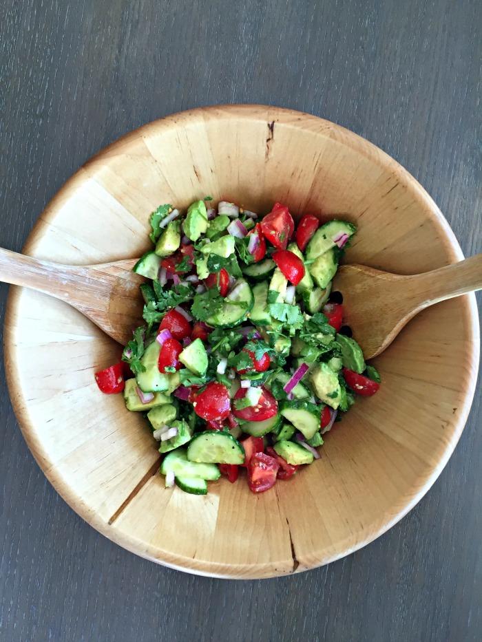 cucumber tomato avocado salad recipe