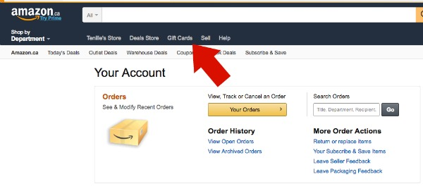 amazon how to purchase gift cards