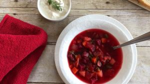 Delicious vegetable packed borscht recipe