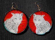Leopard Portrait earrings