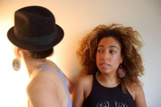 Myra in Leopard Portrait earrings