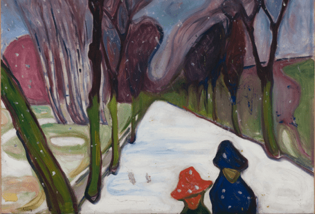 Snow Falling in the Lane, Edvard Munch
