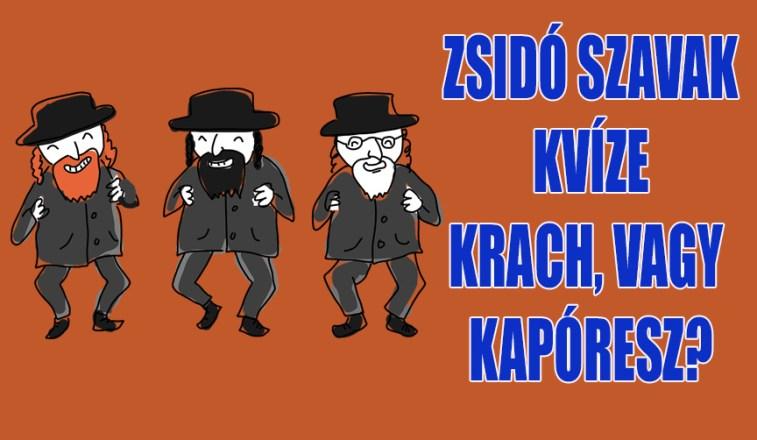 zsidó szavak kvíze
