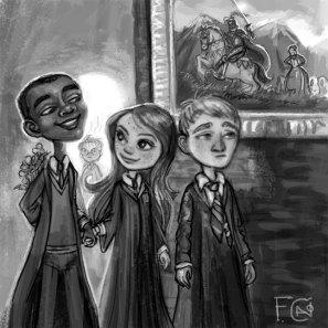 Dean, Ginny, Seamus Sketch, Digital