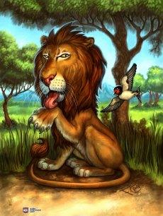 Lion for Ravenous River ©AEG, Digital