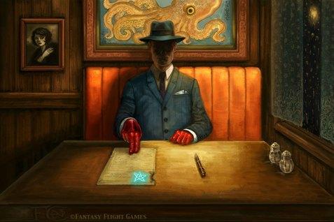 Booth In The Back for Elder Sign ©Fantasy Flight Games, Digital