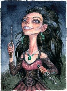 Bellatrix Lestrange, Watercolor
