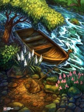Boat for Ravenous River ©AEG, Digital