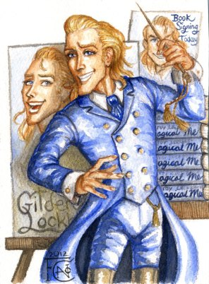 Gilderoy Lockhart sketch, Watercolor