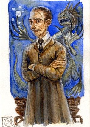 Professor Lupin, watercolor