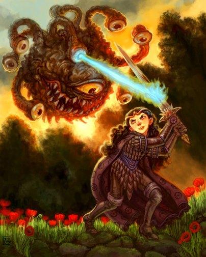 Beholder and Warrior for Art Order, Digital