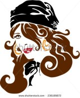 stock-vector-brunette-pirate-lady-with-gold-earrings-236189872