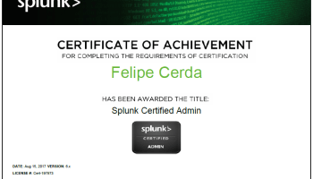 I'm now a Splunk Certified Power User! – Felipe Cerda