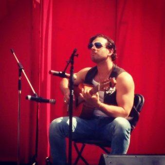 Felipe Alberto playing Peruvian criollo musica at Calgary's Latin Festival